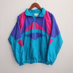 Vintage Colorblock Windbreaker